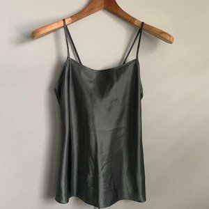 Satin Silk Corset Slip Cami Camisole Tank Blouse